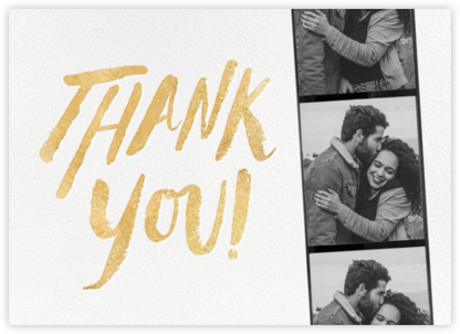 Photo Booth Thank You - Gold - kate spade new york -