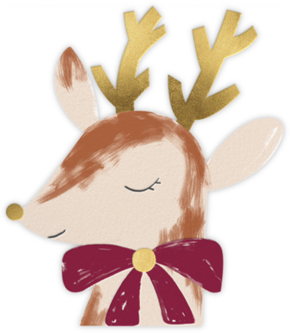 Gold Antlers - Meri Meri - Holiday Cards