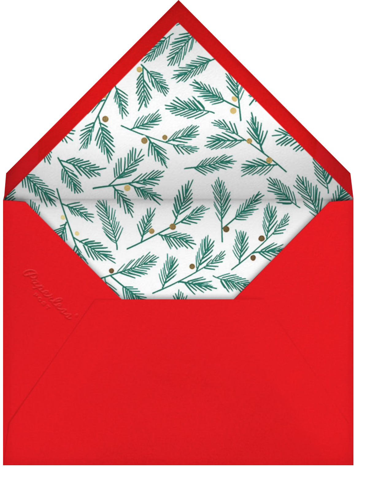 Window Welcome - Meri Meri - Holiday cards - envelope back