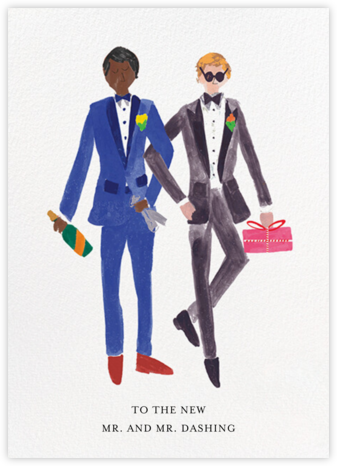 Mr. and Mr. Dashing (Greeting) - Mr. Boddington's Studio - Online Greeting Cards