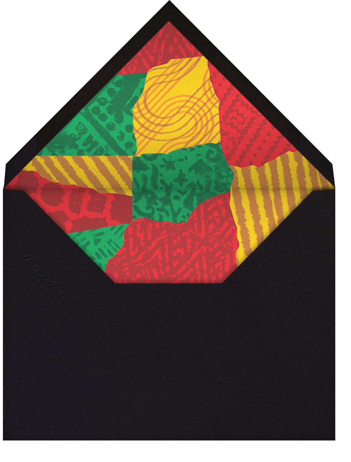 Joyous Kwanza (Greeting) - Paperless Post - Kwanzaa - envelope back