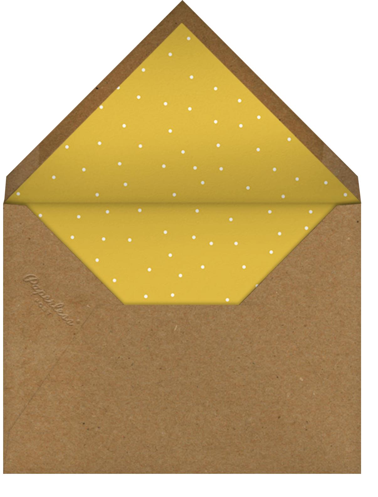 Lit Kinara (Greeting) - Paperless Post - Kwanzaa - envelope back