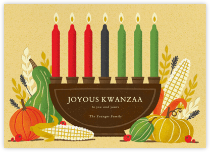 Shared Harvest (Greeting) - Paperless Post - Kwanzaa Cards