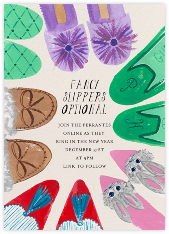 House Slippers - Mr. Boddington's Studio - New Year's Eve Invitations