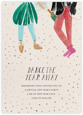 New Year's Dance - Light/Tan - Mr. Boddington's Studio - New Year's Eve Invitations