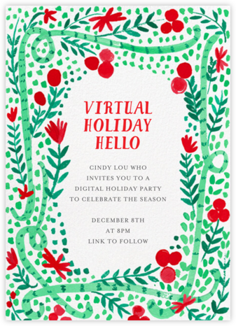 Holiday Vines - Mr. Boddington's Studio - Invitations