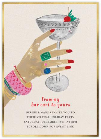 Raised Glass - Light - Mr. Boddington's Studio - Christmas party invitations