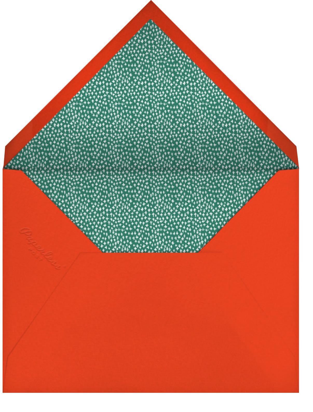 Storybook Town - Mr. Boddington's Studio - Christmas party - envelope back