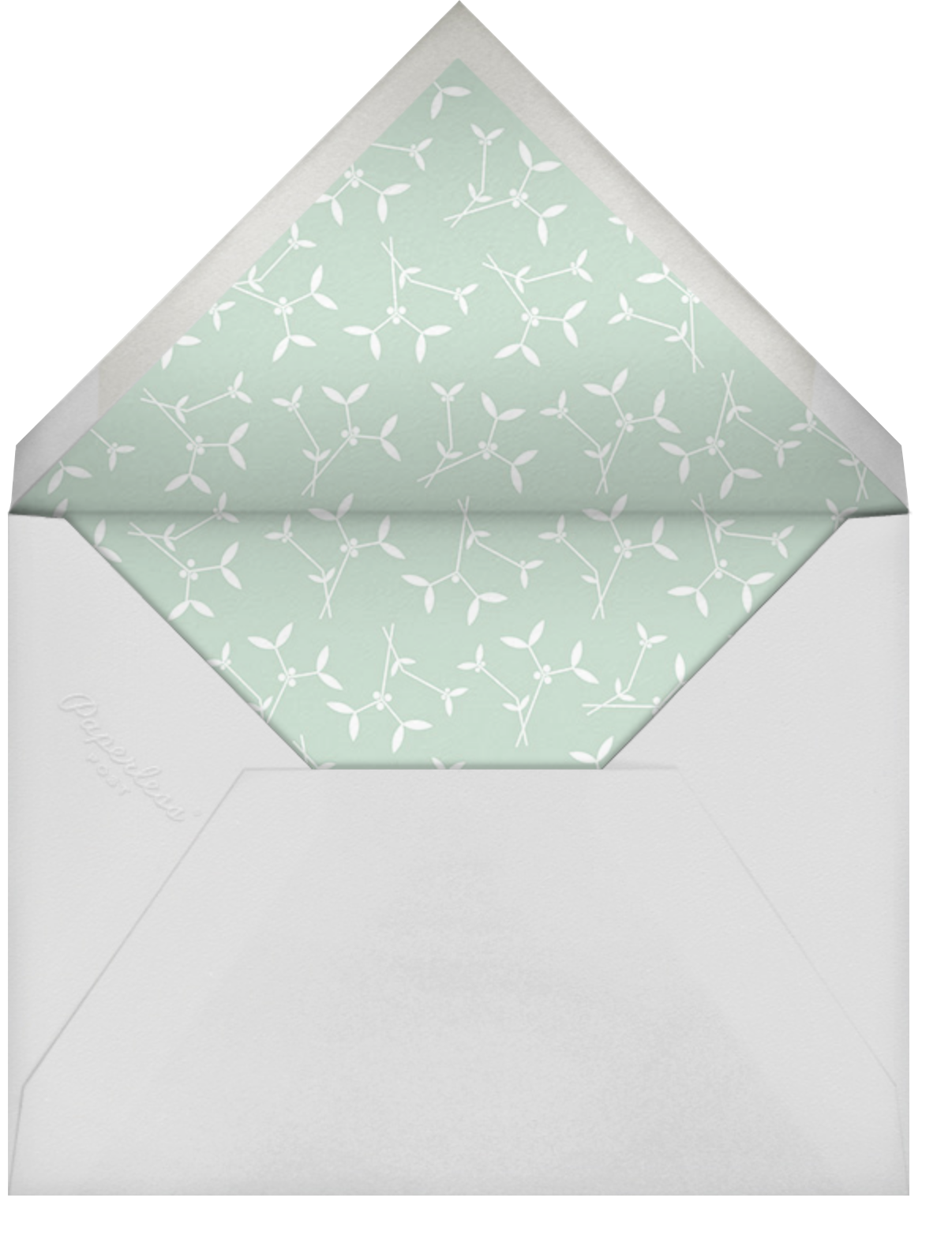 Foiled Frame (Horizontal) - Gold - Paperless Post - Thanksgiving greetings - envelope back