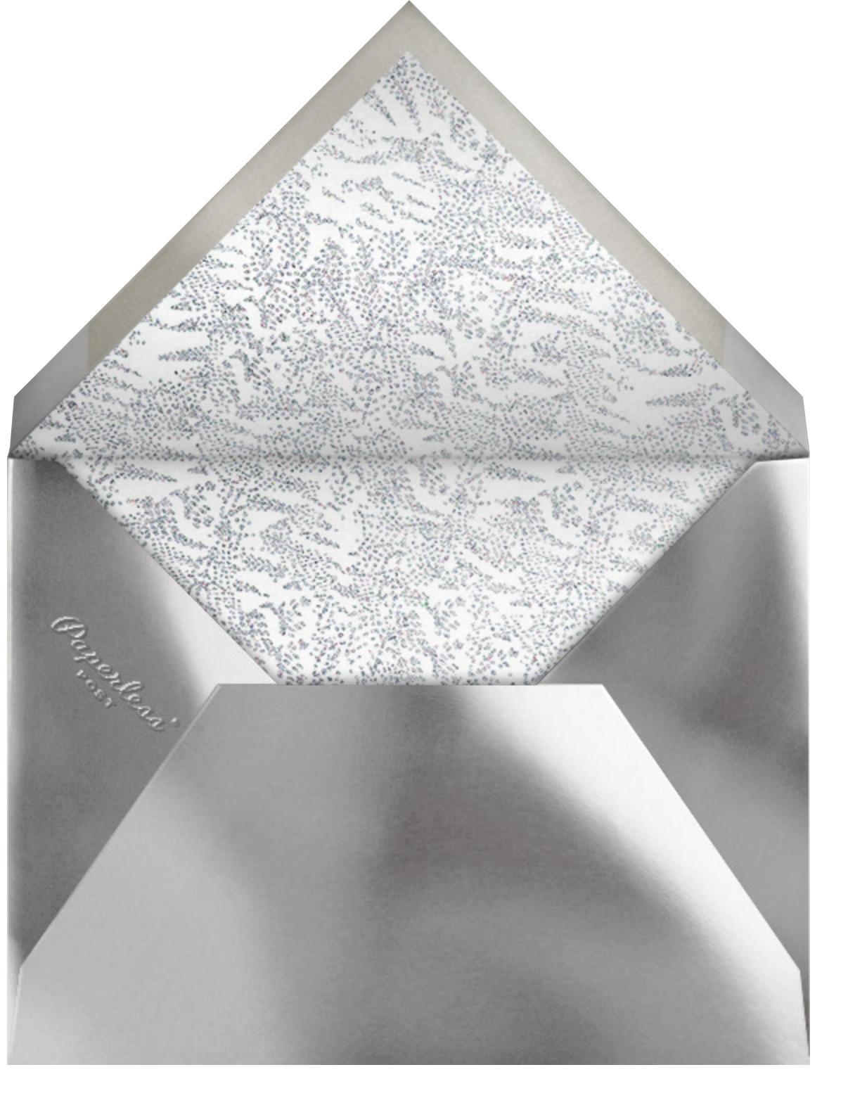 Crystal Pines Christmas (Greeting) - Dark Blue - Paperless Post - Christmas - envelope back