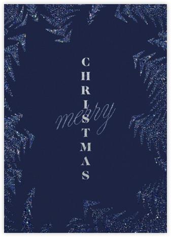 Crystal Pines Christmas (Greeting) - Dark Blue - Paperless Post -