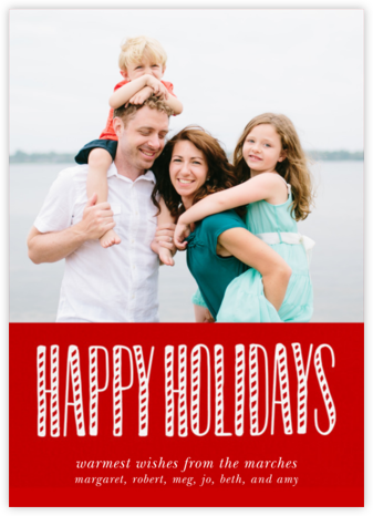 Holiday and Candy Canes - Paperless Post - Affordable Christmas Cards