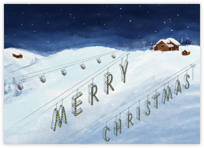 Lifted Spirits - Christmas - Paperless Post - Christmas Cards