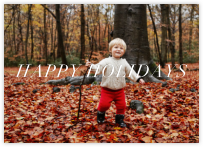 Full-Page Photo Ivory (Double-Sided) - Horizontal - Paperless Post - Holiday Cards