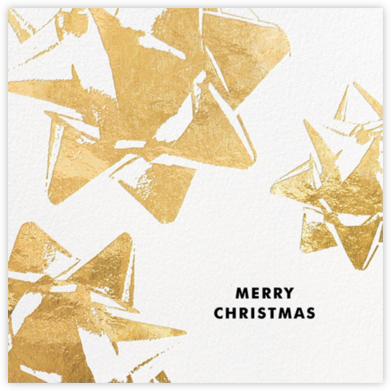 Bourgeois Bow (Christmas) - Gold - kate spade new york - Christmas Cards