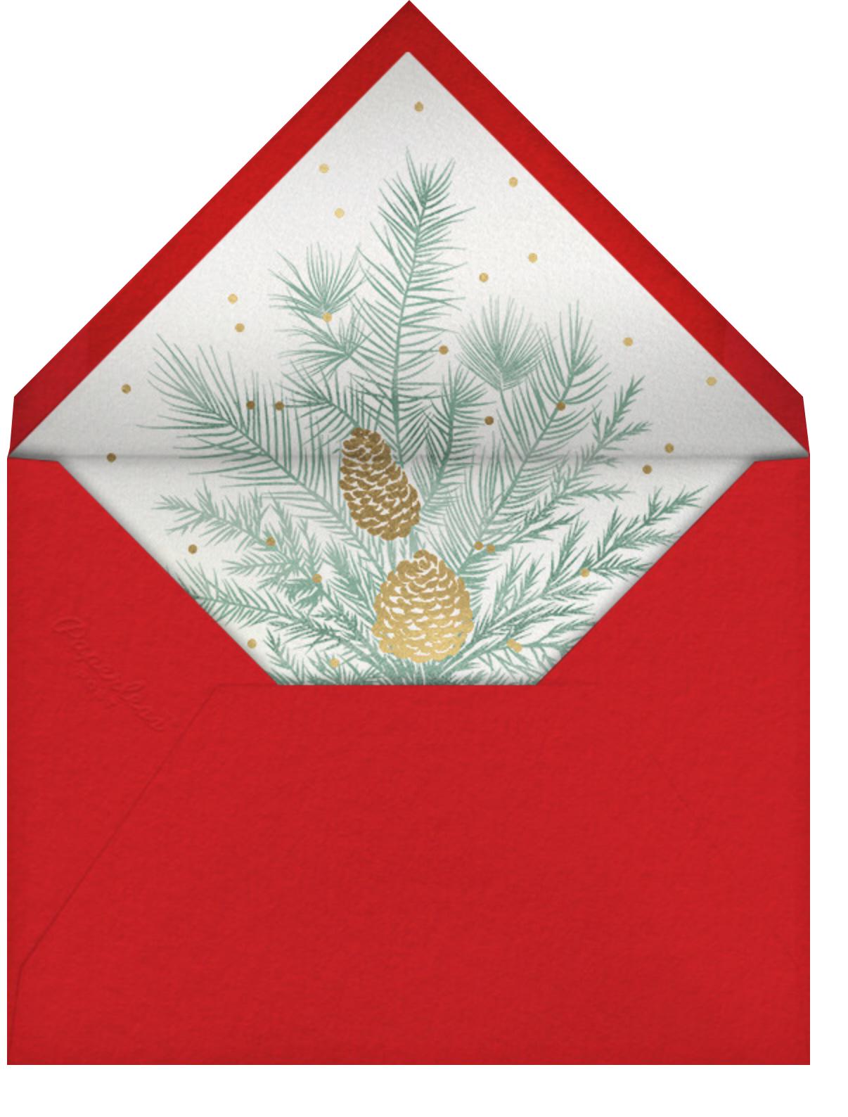Happy Happy Merry - Paperless Post - Christmas - envelope back
