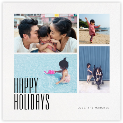 Holidays Gallery (Square) - Paperless Post - Holiday Cards