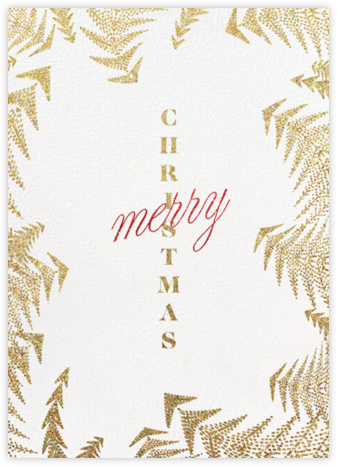 Crystal Pines Christmas (Greeting) - Gold - Paperless Post -