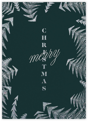 Crystal Pines Christmas (Greeting) - Spruce - Paperless Post - Christmas Cards