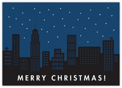 City Snow - Christmas - The Indigo Bunting - Christmas Cards