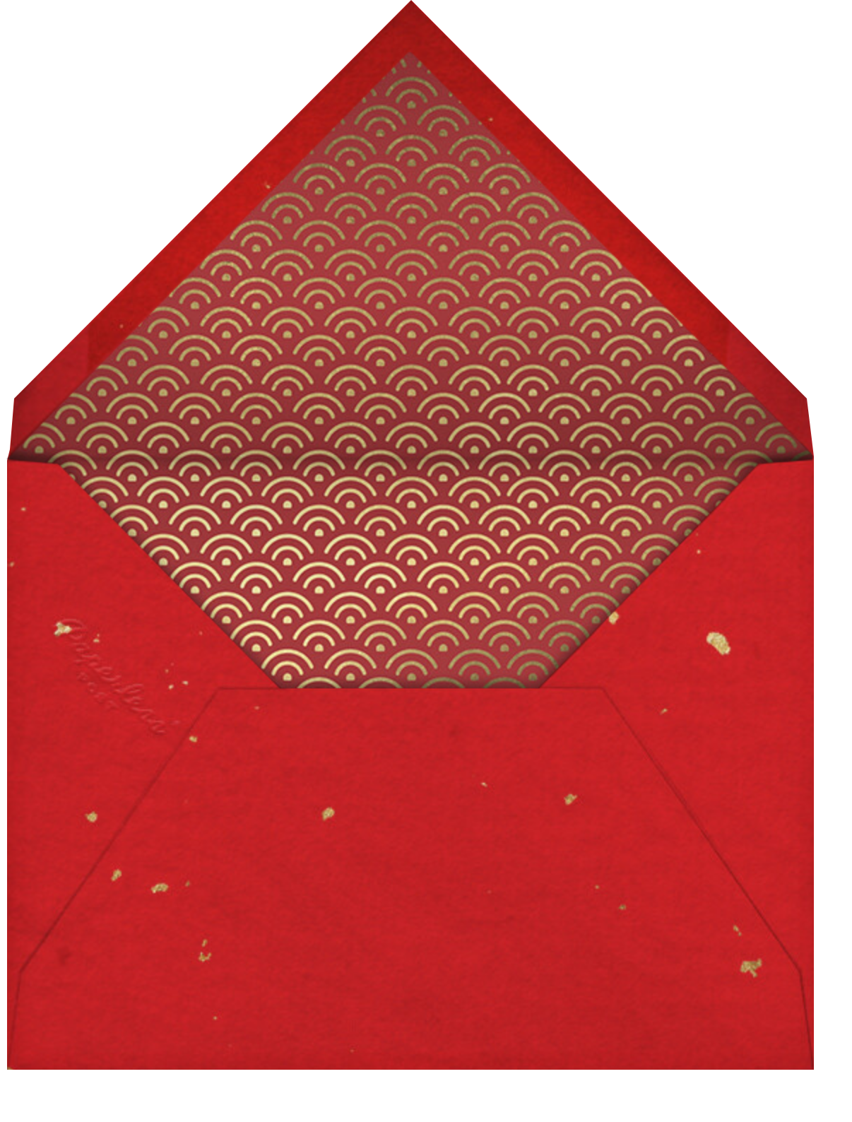 Lantern Tassels - Red - Paperless Post - Lunar New Year - envelope back