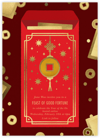Red Envelope - Paperless Post - Virtual Parties