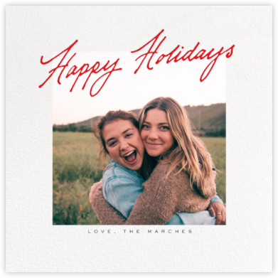 Inscribed Holidays (Square) - Red - Paperless Post -