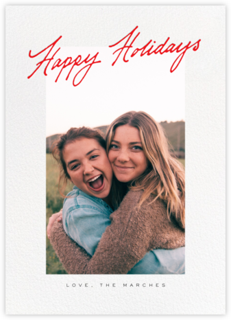 Inscribed Holidays (Tall) - Red - Paperless Post -