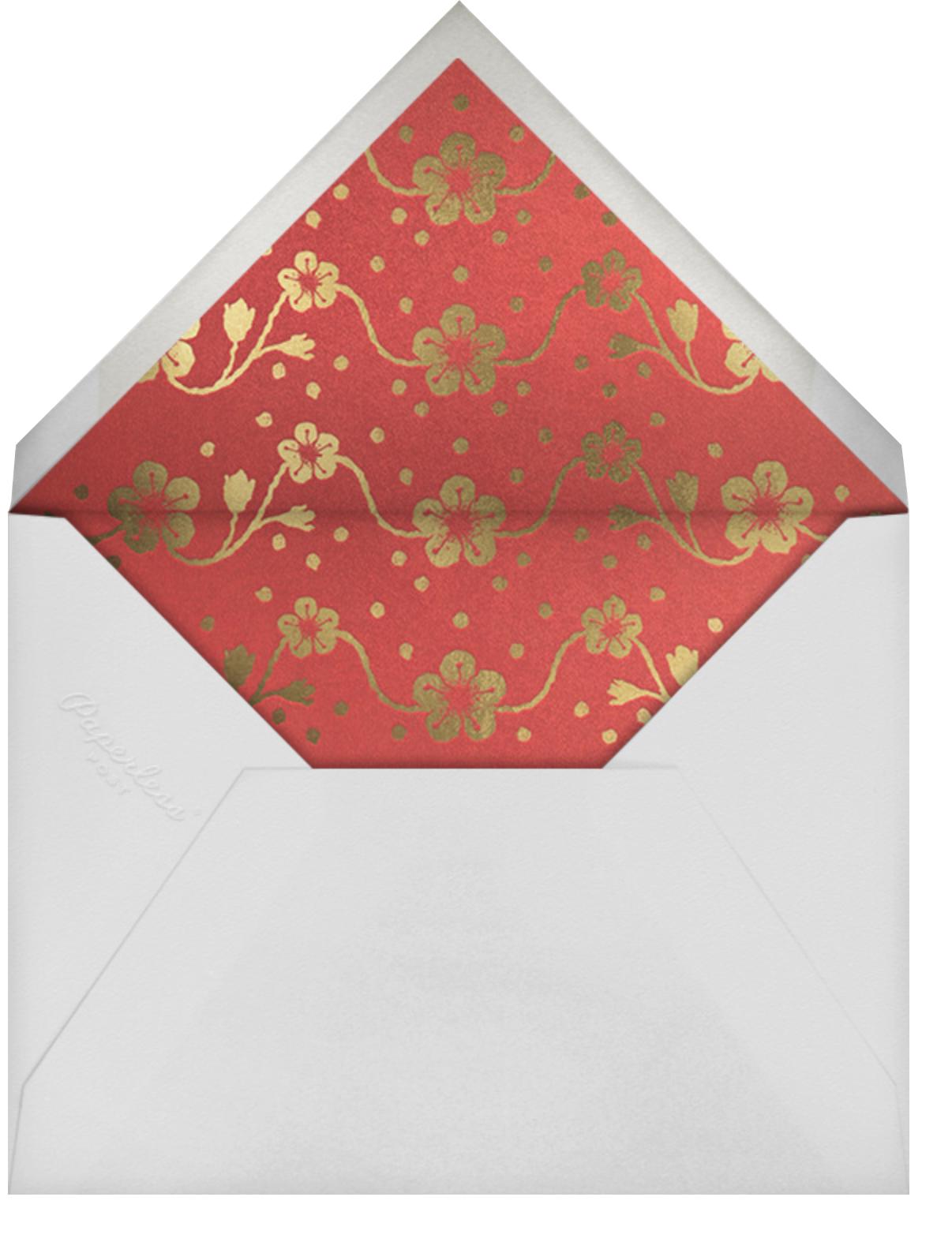 Floral Lantern - Paperless Post - Lunar New Year - envelope back