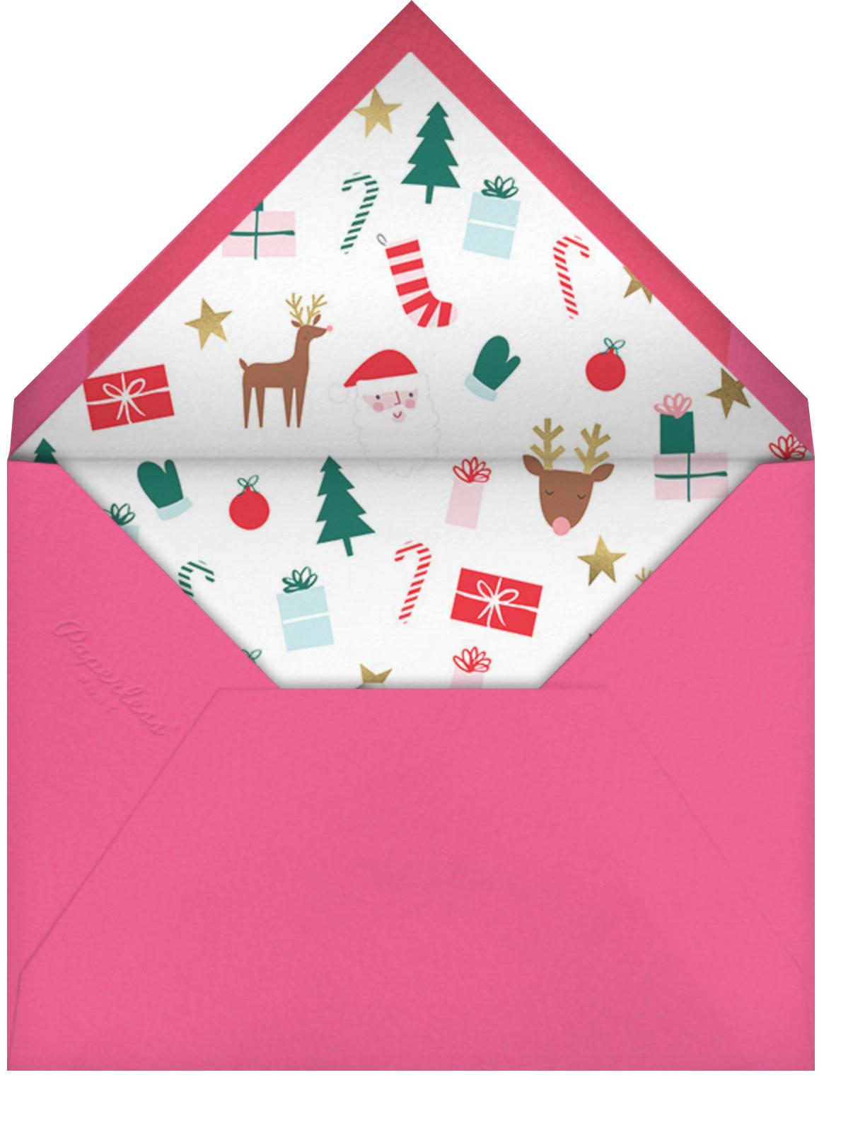 Blushing Elf - Deep - Meri Meri - Holiday cards - envelope back