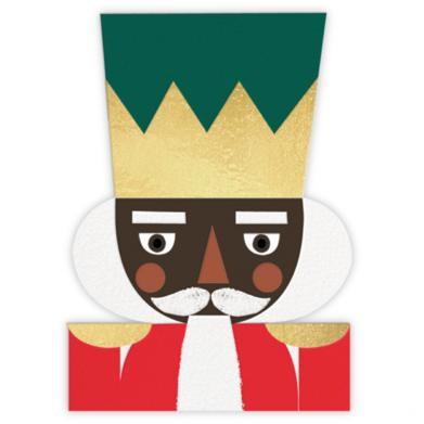 Nutcracking Christmas - Deep - Meri Meri - Christmas Cards