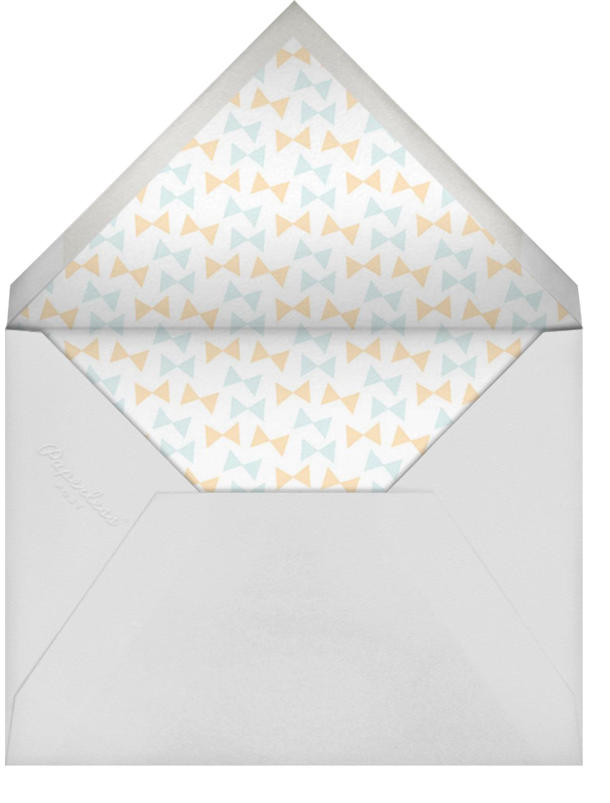 Little Peanut - Tan - Hello!Lucky - Baby shower - envelope back