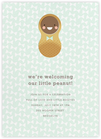 Little Peanut - Tan - Hello!Lucky - Baby Shower Invitations