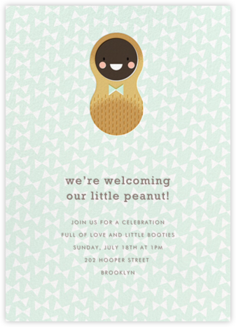 Little Peanut - Deep - Hello!Lucky - Baby Shower Invitations