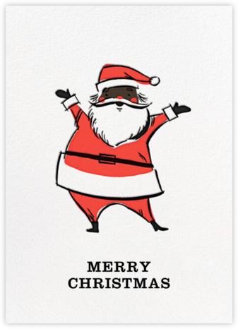 Retro Santa (Greeting) - Deep - Hello!Lucky - Hello!Lucky Cards