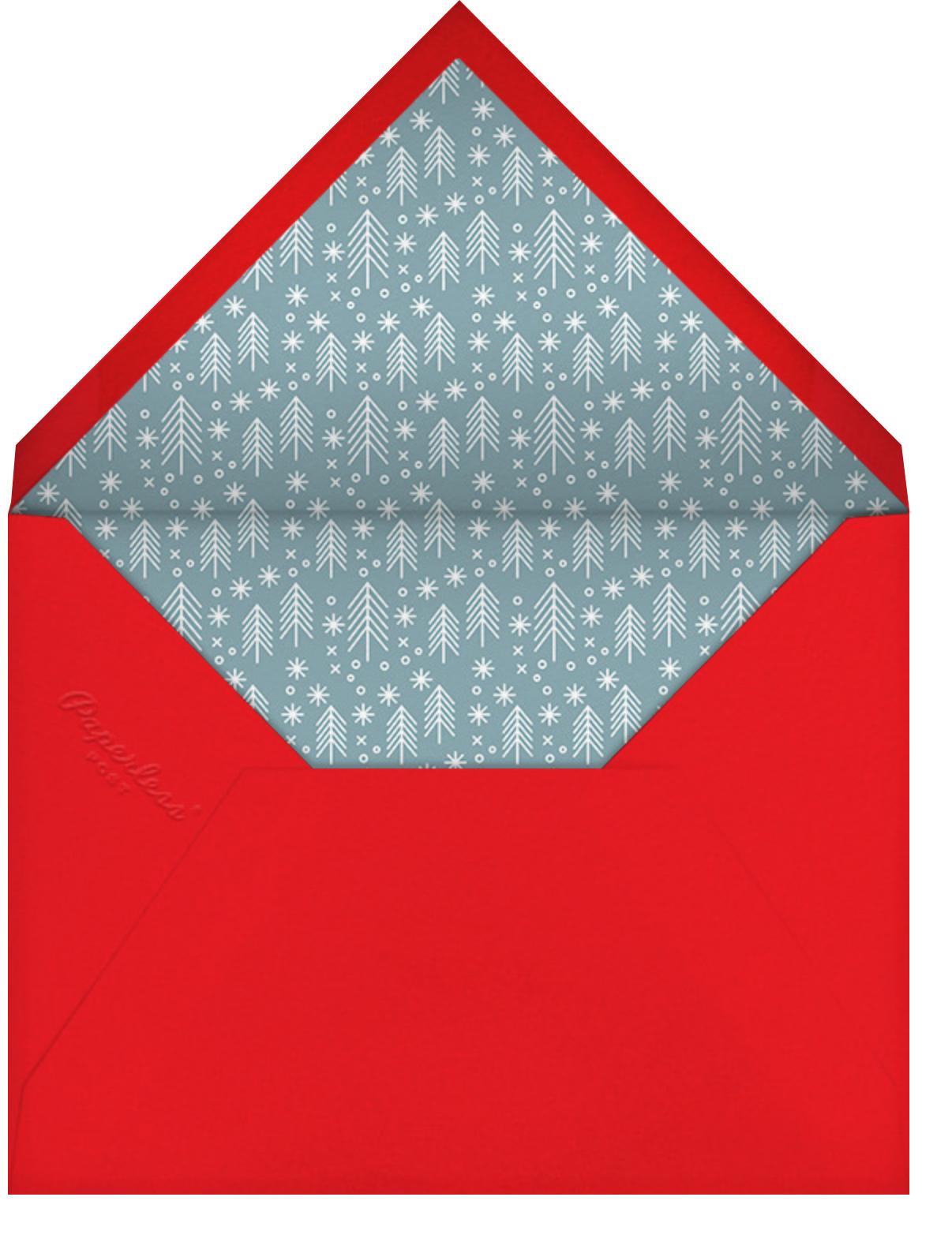 Retro Santa (Invitation) - Deep - Hello!Lucky - Christmas party - envelope back