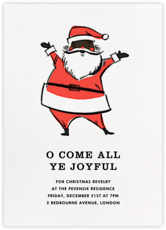 Retro Santa (Invitation) - Deep - Hello!Lucky - Hello!Lucky Cards