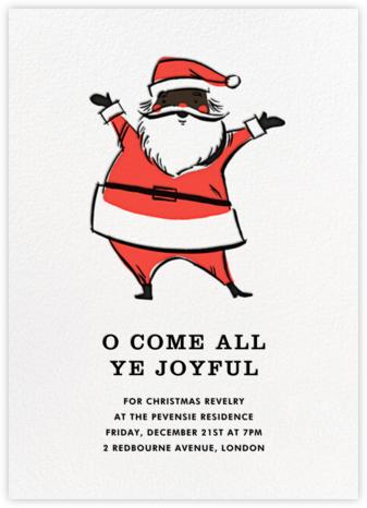 Retro Santa (Invitation) - Deep - Hello!Lucky - Christmas party invitations