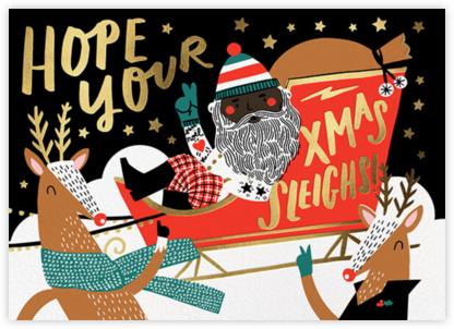 Santa's Pit Crew - Deep - Hello!Lucky - Hello!Lucky Cards