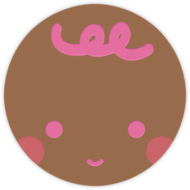 Baby Faces (Pink) - Tan - The Indigo Bunting -