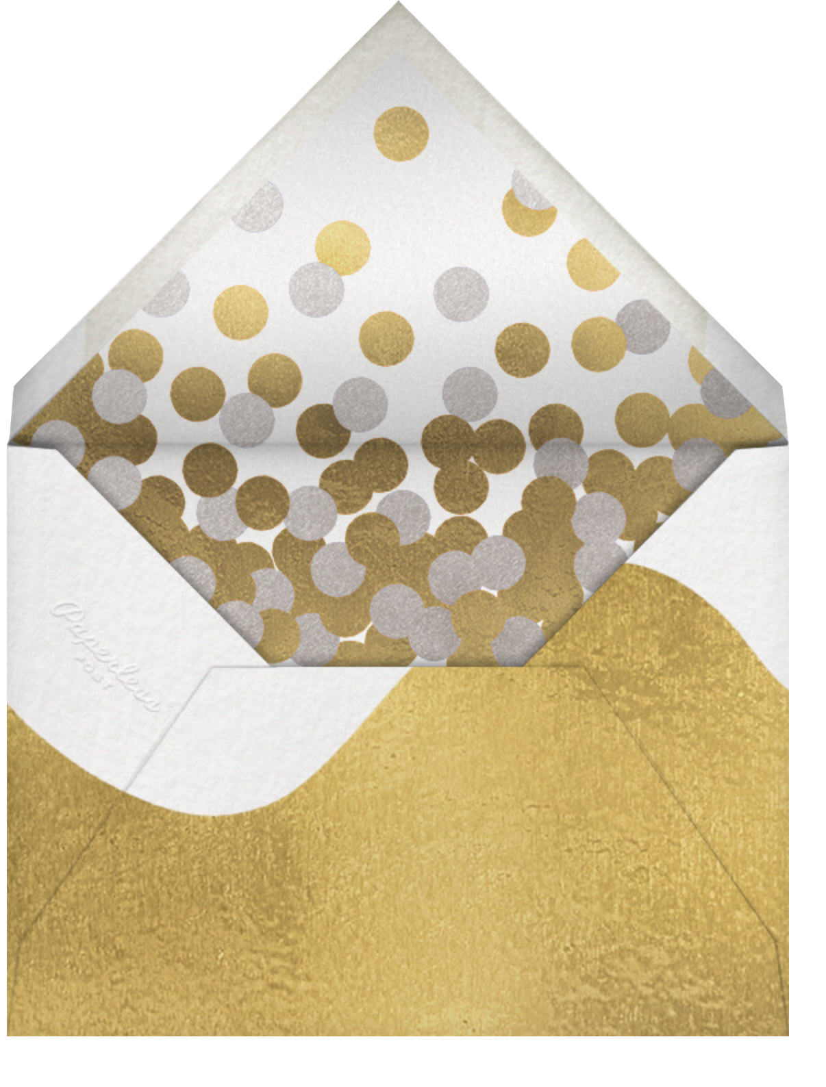 Stencilled Celebration (Multi-Photo) - Gold - Paperless Post - Holiday cards - envelope back