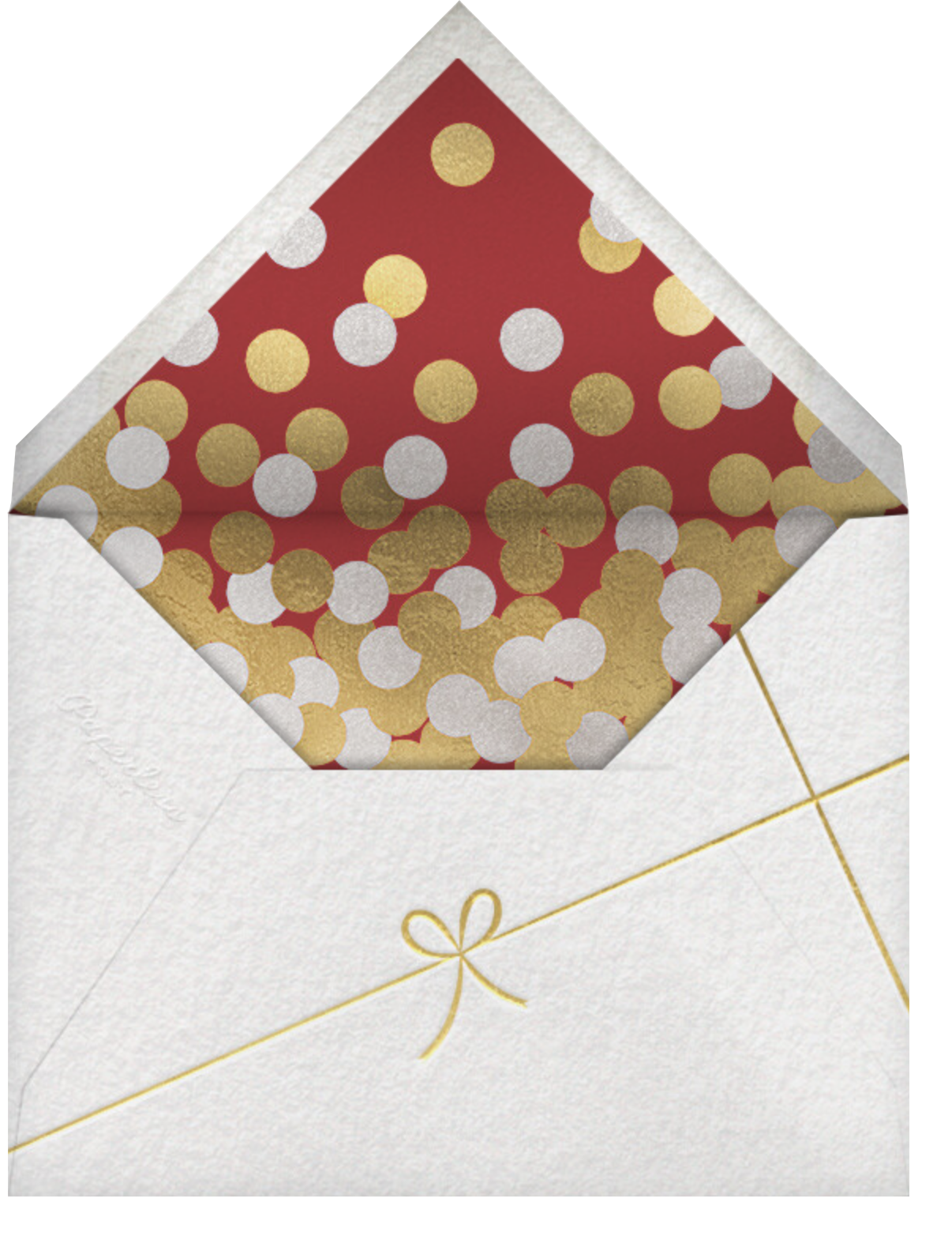Gold Confetti (Multi-Photo) - Paperless Post - Holiday cards - envelope back