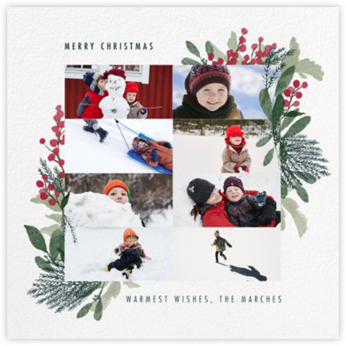 Yule Blooms Christmas (Multi-Photo) - Square - Paperless Post - Online Cards