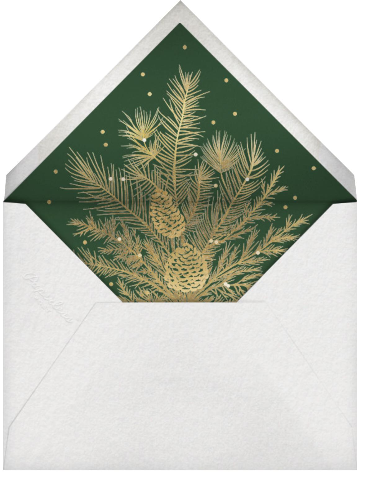 Whitework (8 Multi-Photo) - Gold - Paperless Post - Holiday cards - envelope back