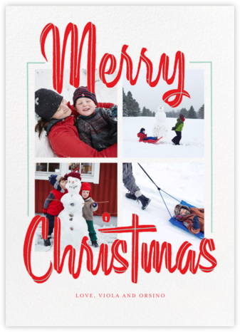 Retro Holidays (Multi-Photo) - Tall - Paperless Post -