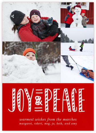 Joy and Candy Canes (Multi-Photo) - Paperless Post - Holiday Cards