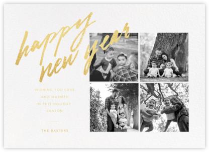 Freehand Filigree (Multi-Photo) - New Year - Paperless Post -