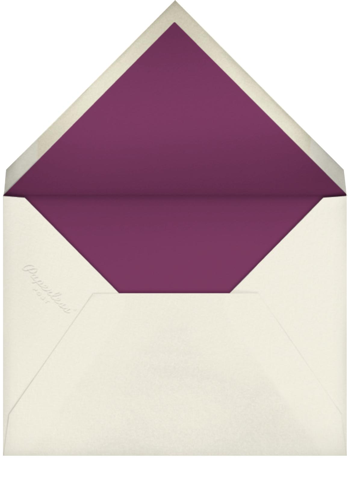 Varsity Hanukkah (1 Photo) - Citrus - Paperless Post - Hanukkah - envelope back