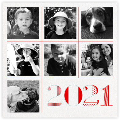 2021 Tic Tac Toe (7 Multi-Photo) - Paperless Post - New Year Cards