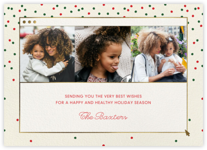 Cheerful Chat - Cream - Paperless Post - Holiday Cards